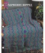 Raspberry Ripple, Annie's Crochet Quilt & Afghan Pattern Club Leaflet QA... - $5.95