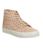 Vans Sk8 Hi Reissue Zip (Veggie Tan Leather) Tan Men's Skate Shoes - $59.95