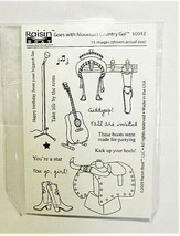 Raisin Boat Goes with Mountain Country Gal Stamp Set #10042