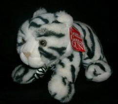 "11 "" Vintage 9019 Jungle Chat Noir Blanc Tigre GUND Animal en Peluche Jouet Tag - $36.10"