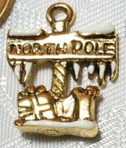 THE NORTH POLE SIGN FINE PEWTER PENDANT CHARM - 15mm L x 20mm W x 3mm D image 4