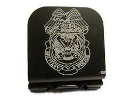 US ARMY Military Police Badge Image Laser Etched Aluminum Hat Clip Brim-it - $11.99