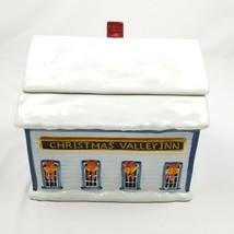 Sakura David Carter Brown Holiday Christmas Valley Inn  Ceramic Cookie Jar - $17.34