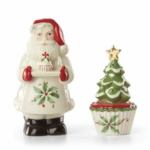 Lenox Holiday Bakeshop Santa Cupcake Salt & Pepper Set - $21.34