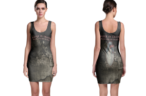Alice in chains black gives way to blue bodycon dress