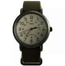 Timex Indiglo Wristwatch Military Large Quartz Analog WR 30M Silvertone ... - $32.66