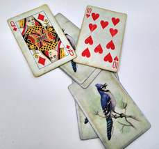6 Blue Jay Playing Cards for Crafting, Re-purpose, Up-cycle, Vintage Supplies image 2