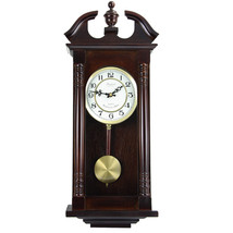 Bedford Clock Collection 27.5 Classic Chiming Wall Clock With Swinging P... - $70.40