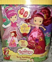 Strawberry Shortcake Berry Sparkling Charms Doll Dress Lights Up 3 Outfits - $39.99