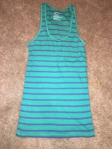American Eagle blue and green striped tank size small - $56,13 MXN