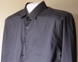 Men's Long Sleeve Casual Dress Shirt Size 17.5-34/35 Geoffrey Beene Gray - $13.85