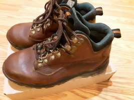 Sorel womens lace brown leather hiking shoes boots size 8M - $44.50