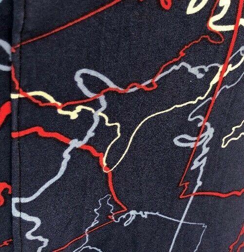 Lularoe Azul, Rojo y Blanco Garabato Estampado Leggings, Talla Alto & Curvy image 3