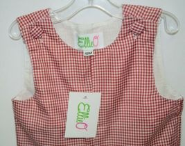 Ellie O Gingham Full Lined Longall Size 12 Months Color Red image 3