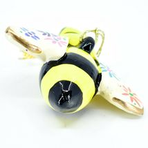 Handcrafted Painted Ceramic Bumblebee Bee Confetti Ornament Made in Peru image 3
