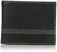 Timberland Men's Leather Slimfold Wallet Key Fob Gift Set Black NP0366/08 image 3