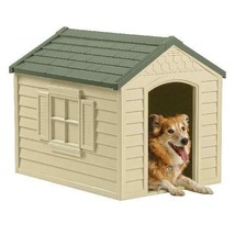 PET DOG HOUSE Large Kennel XXL Weather Shelter Durable Outdoor Puppy Vin... - $76.49