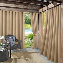 Sun Zero Beacon Woven Indoor/Outdoor UV Protectant Grommet Curtain Panel... - $15.99