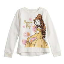 PRINCESS BELLE DISNEY BEAUTY BEAST Fleece Sweatshirt Sizes 6, 6X, 7 or 8... - $14.99