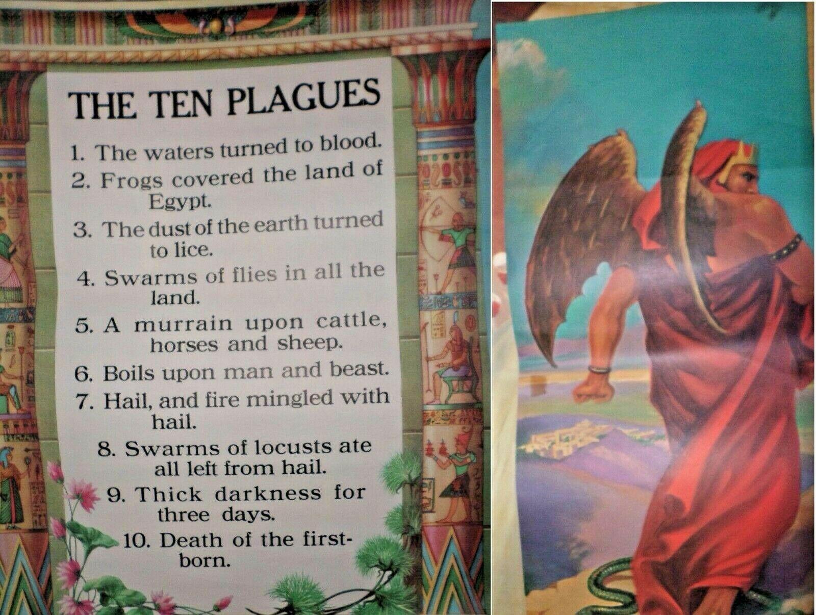 Vintage Religious Posters Church 50's 60's Jesus Bible Stories 18x24 15pcs