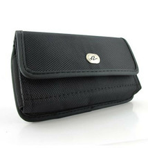Black Horizontal Heavy Duty Belt Clip Case Pouch For alcatel Pixi 4 (3.5) - $6.39