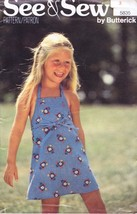 See & Sew by Butterick 5835 Child's Jumper Dress Size 3 Vintage 1970s  - $4.74