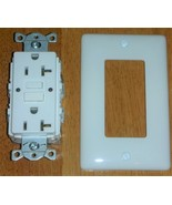 HUBBELL WIRING Self-Test Commercial GFCI Receptacle GFRST20W NIB - $12.00