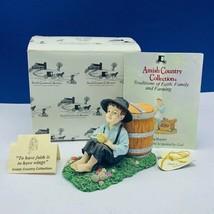 Amish Country Collection figurine NIB box sculpture vtg Companions faith... - $38.53