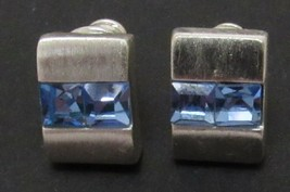 Monet Earrings with Blue Crystals for Pierced Ears -B - $9.99