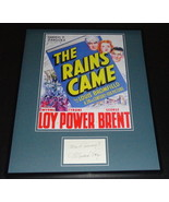Myrna Loy Signed Framed 16x20 The Rains Came Poster Display - $112.19