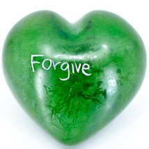 Vaneal Group Hand Carved Soapstone Forgive/Forget 2-Sided Heart Paperweight