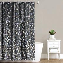 "Akita Floral Fabric Shower Curtain 70"" x 72"" Black - Splash Home - $31.65 CAD"