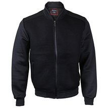 Maximos USA Men's Lightweight Mesh Zip up Bomber Jacket (Large, Black/Black)