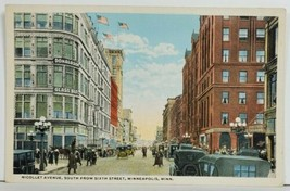 MN Nicollet Ave South from Sixth Street Minnesota Postcard P4 - $12.95