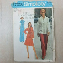Vintage 1975 Simplicity Young Contemporary Fashion Pattern 7258 Size 10 ... - $29.65