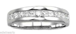 Sterling Silver Princess Cut Cubic Zirconia Wedding Ring Band - $16.14