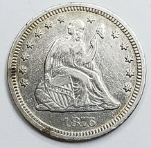 1876CC United States Seated Liberty Quarter Dollar 25c Coin Lot A 154