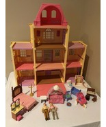 Fisher Price Loving Family Twin Time Dollhouse Folding Doll House Access... - $129.99