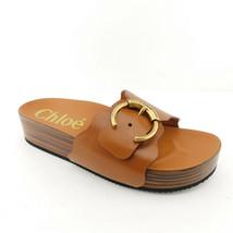 New CHLOE Size 10 INGRID Brown Scalloped Platform Sandals Shoes 41 Eur - $429.00