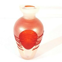 Modern Art - Red and Clear Cut Glass Vase for Home Decoration and Accent... - $32.95