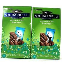 2 Bags Ghirardelli 4.19 Oz Limited Edition Creamy Milk Chocolate Bunnies  - $19.99