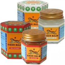 Tiger Balm Red/WHITE Relief of Muscular Aches Pain Sprains Ointment Massage Rub - $6.30+