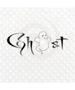 Ghost Font 4smp-Digital ClipArt-Gift Tag-T shirt-Jewelry-Holiday-Halloween - $3.99