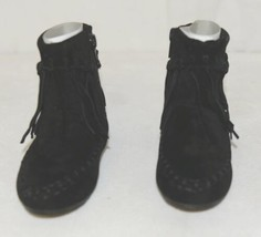 I Love Yo Kids AVA 92T Girls Fringe Boot Black Zip Up Size Six image 2