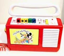 Vintage Disney Mickey Mouse & Pluto Cassette Recorder with microphone 1990 - $148.49