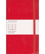 Moleskine Classic Notebook, Large, Ruled, Red, Hard Cover (5 x 8.25) - $24.75