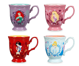 Disney Store Princess Flower Mug Ariel Snow White Rapunzel Cinderella 2017 - $59.95