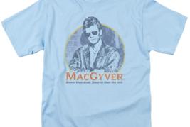 MacGyver Retro 80's adventure action TV series blue graphic t-shirt CBS1640 image 3