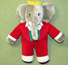 1988 GUND BABAR Plush Elephant King Stuffed Animal Macys Exclusive RED S... - $20.56