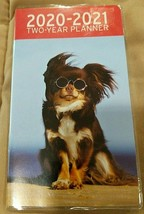 "2020-2021 2-Year Pocket Planner ""Hairblown Dog With Sunglasse"" For Scho... - $2.00"